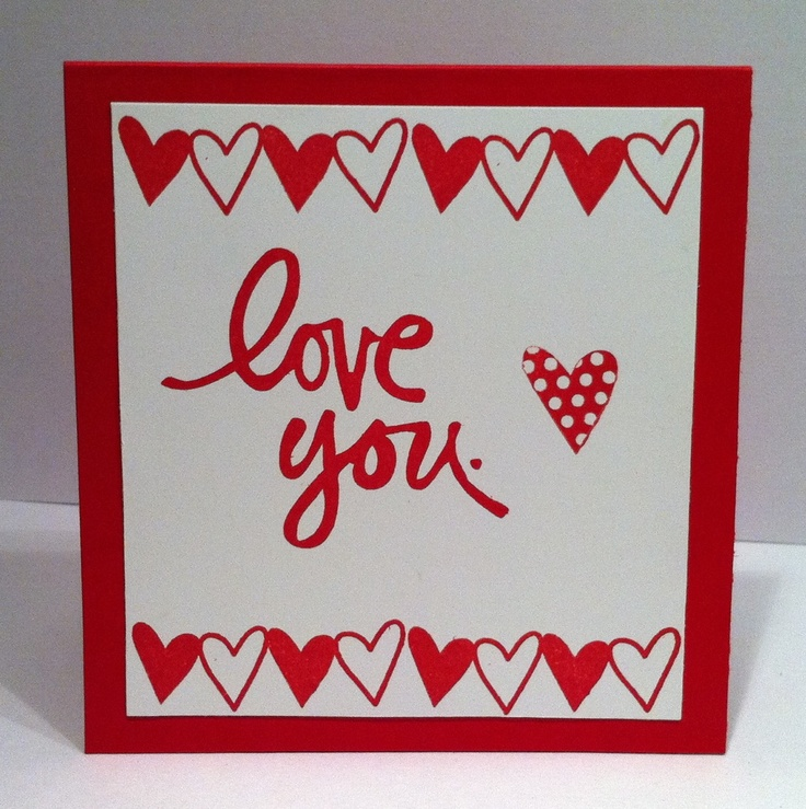 Technique Tuesday Heart Stamp Set Cards Pinterest