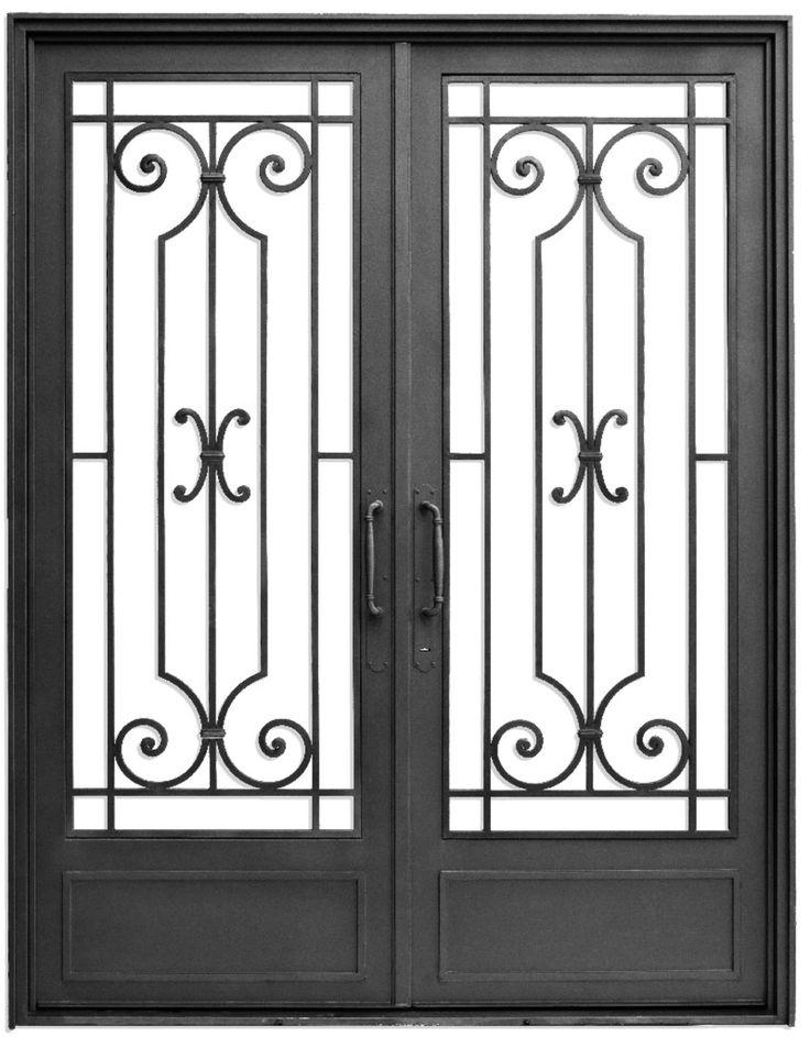 Puerta de entrada cl sica de del hierro design puerta de - Puertas de entrada de hierro ...