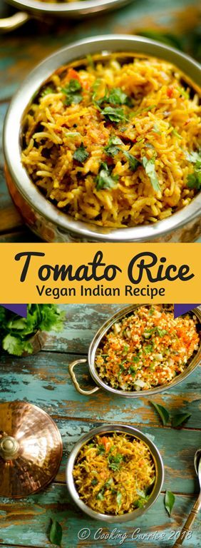 Tomato Rice #IndianFood #Vegetarian #Vegan #GlutenFree