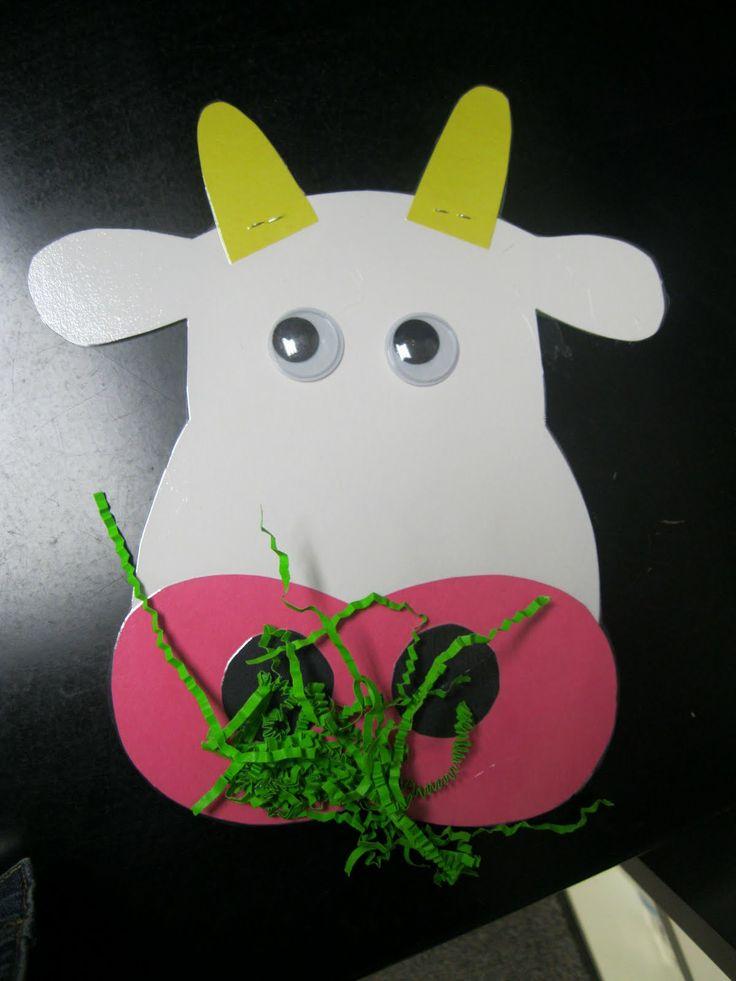 Super cute Cow craft for Farm Animals unit