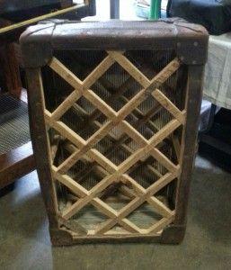 luggage trunk repurposed into wine rack...amazing!!