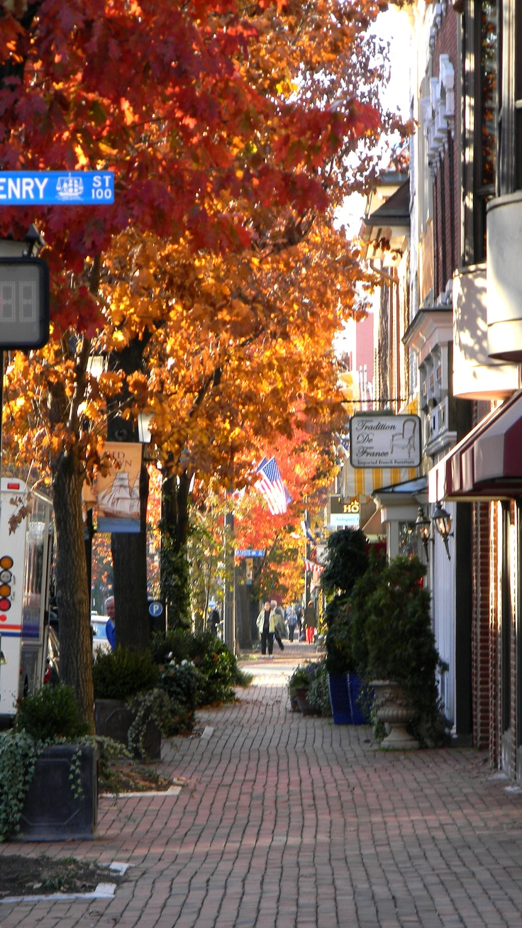 Street scene in Old Town Alexandria, VA- This is where I live. It is historic town that was once home to George Washington.