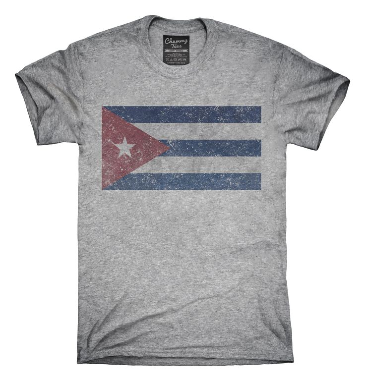 Retro Vintage Cuba Flag T-Shirts, Hoodies, Tank Tops