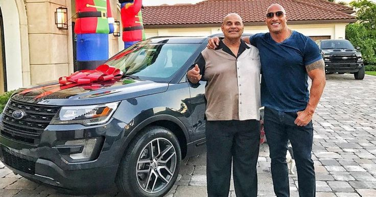 Dwayne The Rock Johnson Buys His Dad A New Ford Explorer For Christmas #celebrities #Ford