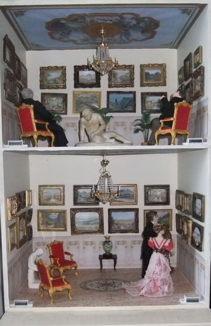 Joan Hards art gallery by Mez Monk. My talented mother, Joan's original water colours and a few prints fill the walls. DAME miniatures shows
