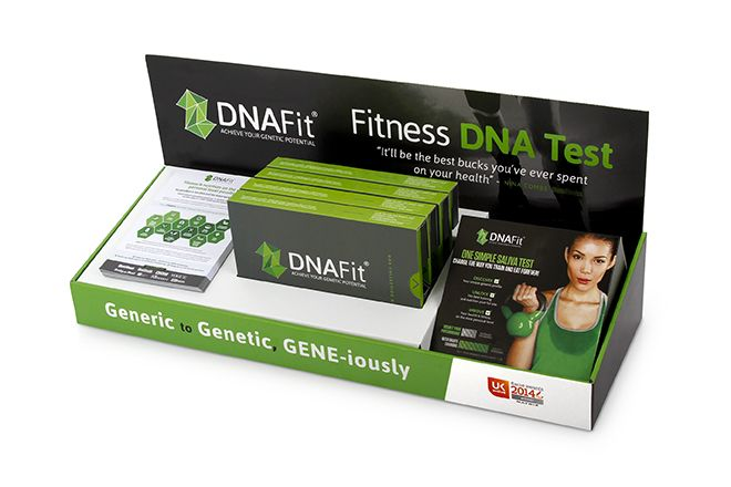 For the DNA Fit Test kit, we also produced a In-store POS stand, to store and display the DNA Fit Medical Kit at shows, exhibitions and in stores. At Burgopak we can design bespoke packaging your specific Medical Devices and Nutraceutical needs, including POS stands and promotional packaging.