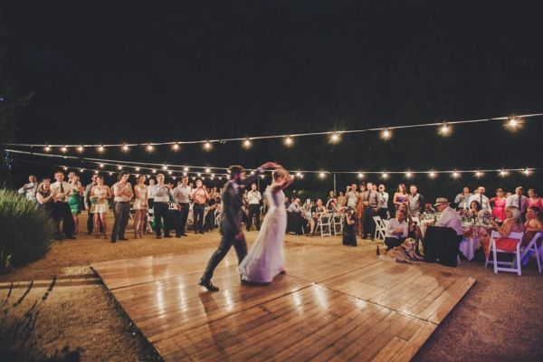 "Wedding Music:  Processional: ""The Luckiest,"" Ben Folds  Registry signing: ""Hard Sun,"" Eddie Vedder  Recessional: ""I Would Do Anything For You,"" Foster the People  First Dance: ""Fly Me to the Moon,"" Frank Sinatra"