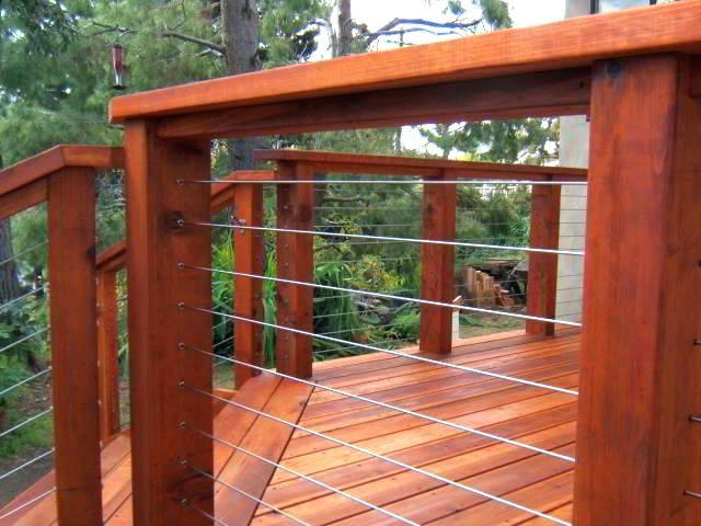 Redwood Deck Railing Ideas Quitefancy Top Cable Railing Deck Deck Railing Design Wire Deck Railing