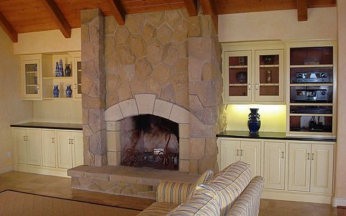 built in seating around fireplace ideas | Built-In Bookcase Pictures - Zimbio