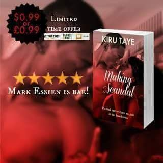 #eBookSale  #Giveaway By Kiru Taye  #MakingScandal by #KiruTaye Amazon US: http://amzn.to/2iCDgHr   #99c Limited Time Only   BLURB Sassy successful Faith Brown has earned her place in the boardroom through hard work and sheer ambition. Making family is not on her agenda when there are businesses to develop and competitors to outdo. So when a casual affair with smooth and irresistible tycoon Mark Essien leads to an unplanned pregnancy shes determined not to make the mistakes her mother made…