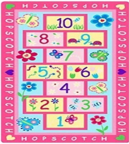 Childrens-Girls-Quality-Pink-Hopscotch-Floor-Activity-Play-Rug-Mat-147cm-x-80cm