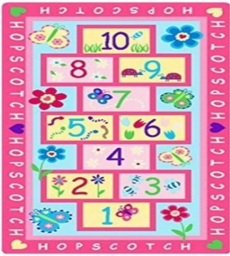 Childrens-Girls-Quality-Pink-Hopscotch-Floor-Activity-Play-Rug-Mat-147cm-x-80cm