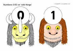 Numbers 0-50 on 'wild things' (SB4454) - SparkleBox