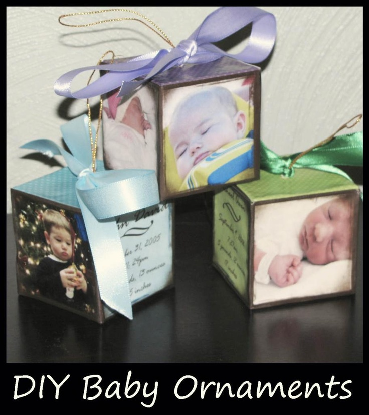 DIY Baby Ornnaments-thinking about making one......so hard to find ornaments for my daughter......