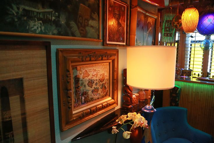 Kurtiki Lounge with some art by Doug Horne.