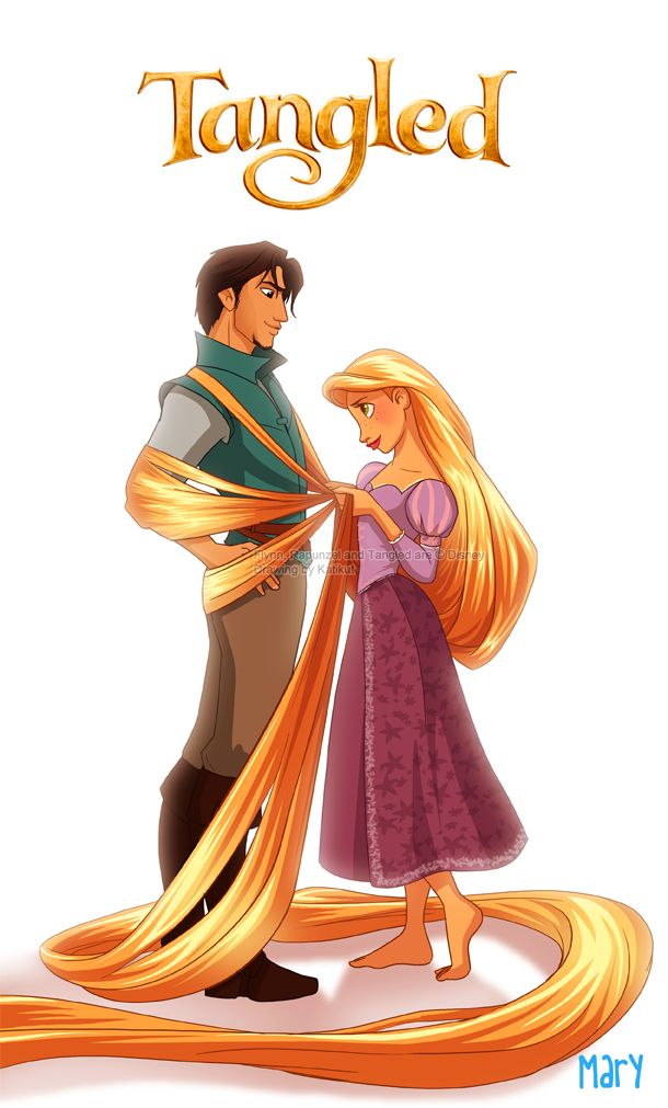 tangled - Flynn and Rapunzel by *Katikut on deviantART