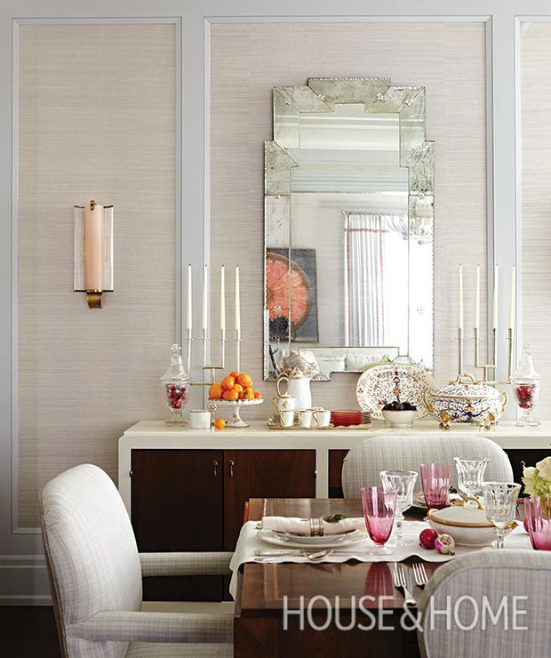 20th Century Touches Bring The Dining Rooms Formality Down A Notch