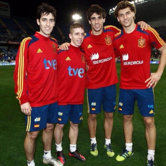 The four boys from Bilbao playing for La Furia Roja.