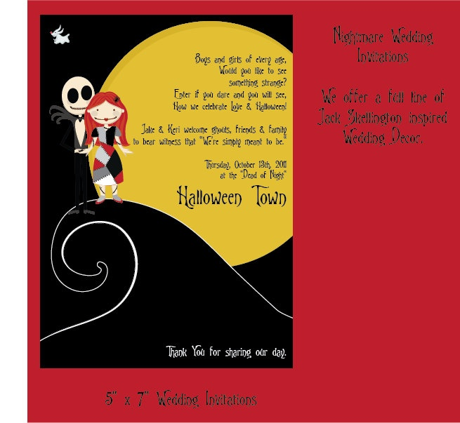 Nightmare Before Christmas Wedding Invitations