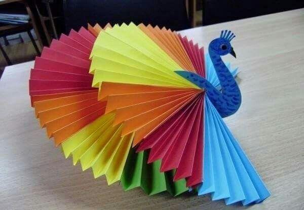 peacock craft paper kids