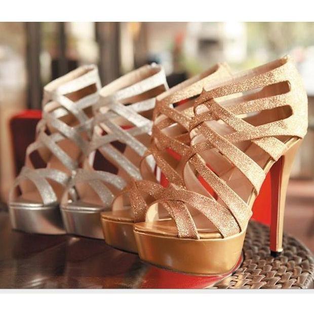 Women's fashion high-heeled sandals with stiletto heel ...