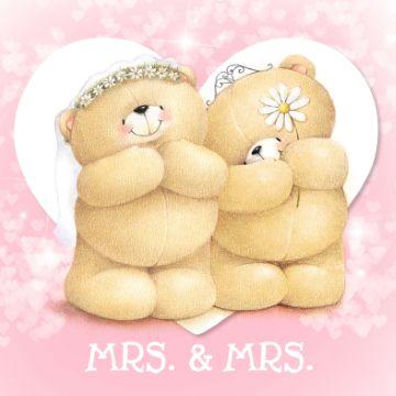 Leuke felicitatiekaart voor een huwelijk!