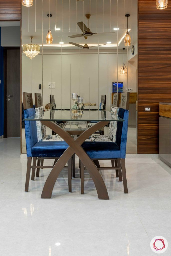 Prepare To Swoon Over This 2bhk Glass Top Dining Table Mirror