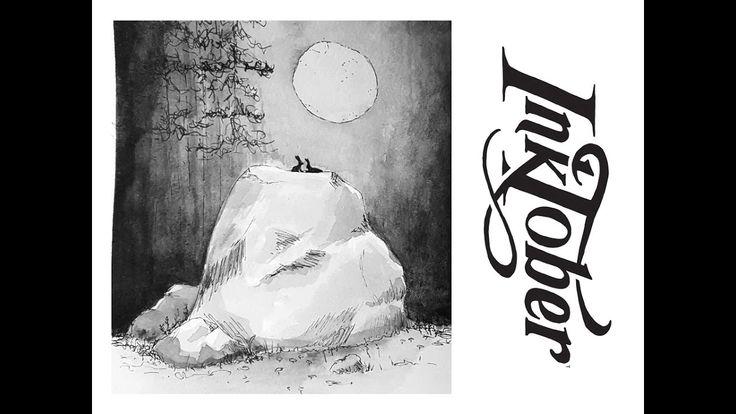 INKTOBER 2016 #8: ROCK  Matilda Fryxell   Art  https://www.youtube.com/channel/UCE98xyWOGdPO6Z7z1QkOgjA