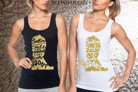 SHIRT DETAILS: // Fitted Racerback Tank Top lightweight polyester cotton blend with Vinyl/Foil/Glitter Lettering // Due to high demand, at