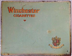 Antiquité 1950 Collection. Boîte en fer Winchester Cigarettes