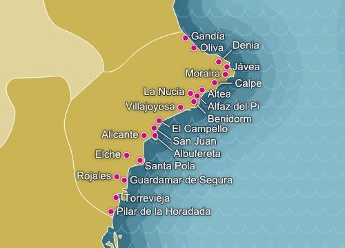 La Costa Blanca es el nombre turístico que designa el territorio que va desde Denia hasta Pilar de Horadada y está constituido por 244 kms. de playas, calas y acantilados. Entre sus ciudades costeras destacan la capital, Alicante, y también ciudades más pequeñas como Denia, Torrevieja, Altea y, cómo no, Benidorm que puede considerarse hoy en día como la capital del turismo de la Costa. #bacaciones #vacaciones #viajes