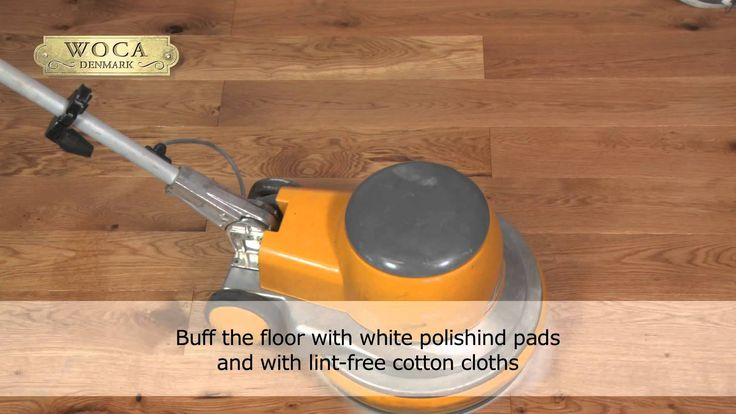 How to apply WOCA High Solid Master Oil..... for oil finishing of wood floors with floor machine.