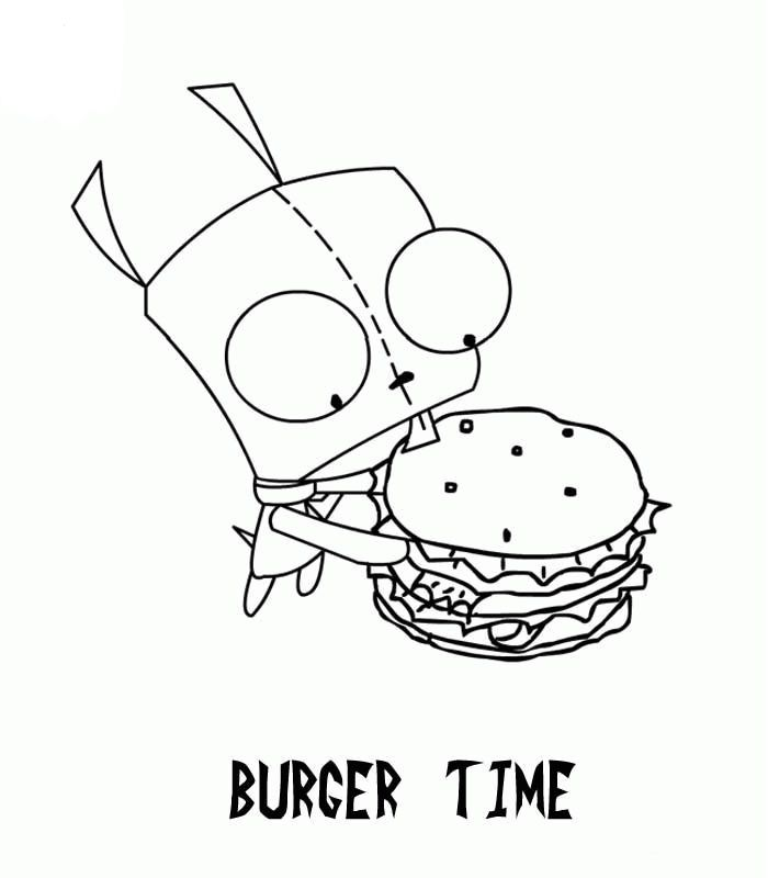 gir invader zim coloring pages - photo#6