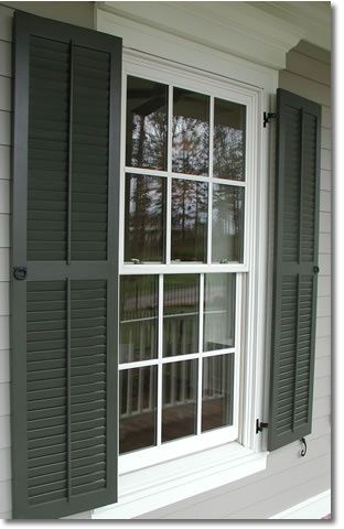 Using shutters on your exterior windows - Melinda Hartwright Interiors