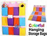 TOOGOO Wall Door Cloth Colorful Hanging Storage Bags Case Pocket Home Organization