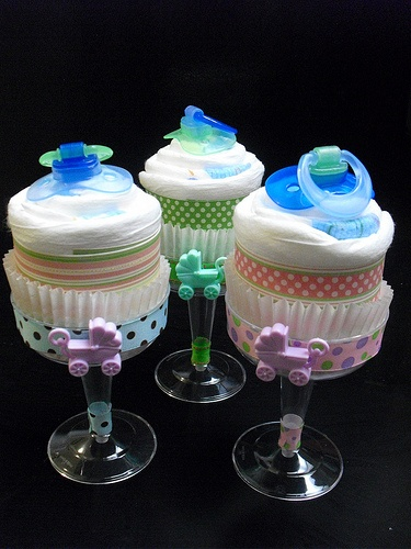 diaper cupcakes for the next baby shower I go to