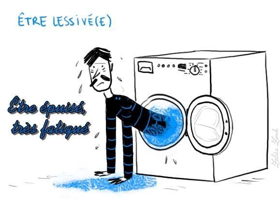 EXPRESSIONS FRANÇAISES  Être lessivé