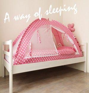 Droomtent, superleuk voor de kinderkamer. Kids slapen er veel beter door! Zomers ook als klamboe te gebruiken.