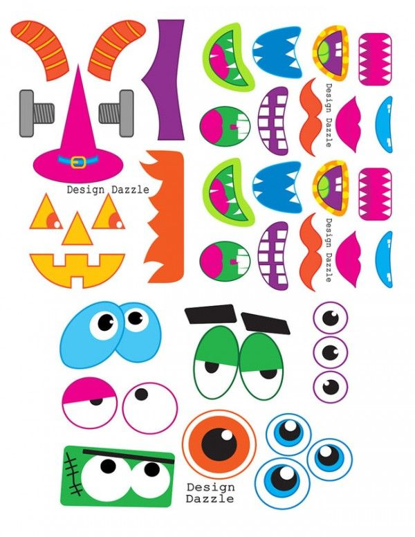 cute monster party games | Use these fun (and free!!) monster face printables for great photo ...