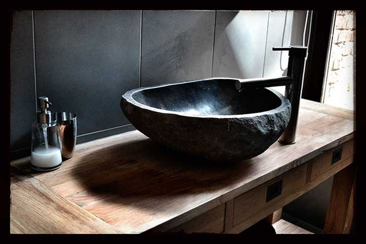 Floating Stone Sink : ... Pinterest Sink countertop, Floating vanity and Stone sink