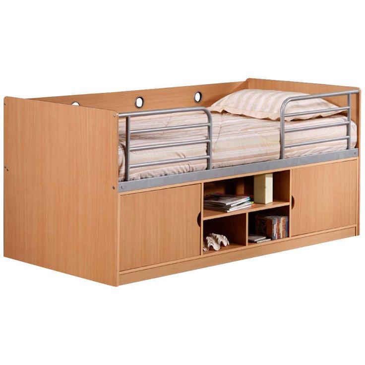 Beech Finish Childrens Cabin Bed Frame Midi Sleeper Sleep Station | Single 3ft