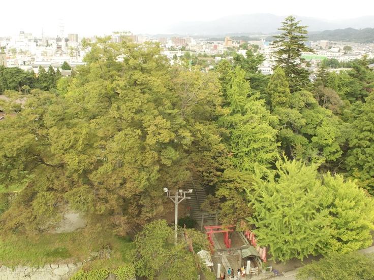 会津城,天守閣からの眺め