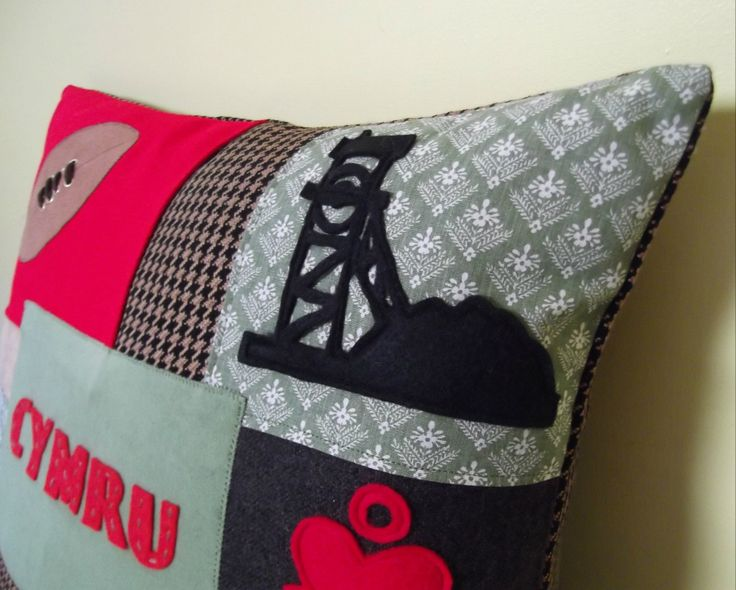 New Heritage Patchwork cushion from Welsh Hat Crafts. www.welshhatcrafts.co.uk
