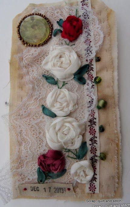 Scrap,quilt and stitch: Etiquettes de l'avent (5)