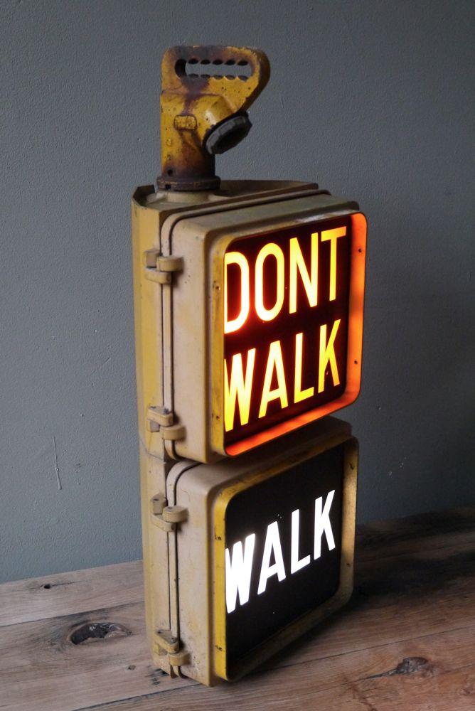 "Feu original ""Walk/Don't walk"" américain - Déco home"