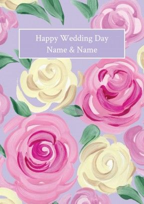 rose bunch | personalised wedding card Discount code to get 10% off --> SCRTZZGL