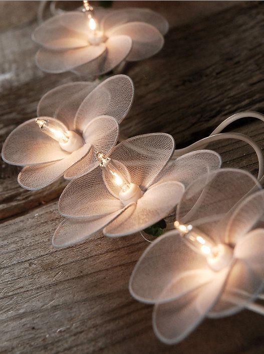White Flower String Lights
