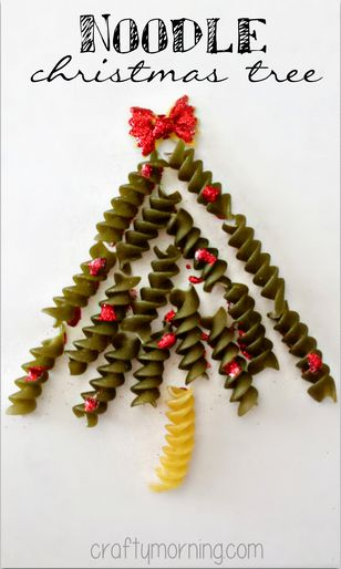 noodle christmas tree craft