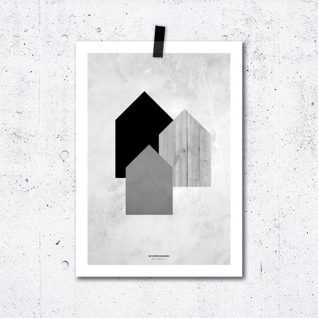 Plakát Domečky
