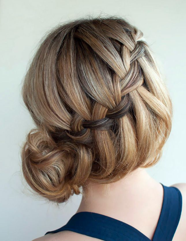 This cascading braid is so posh.